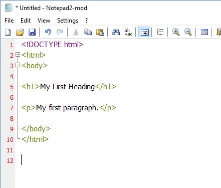 นับบรรทัดได้ และทำ syntax hilight ได้