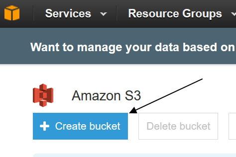 create bucket aws s3