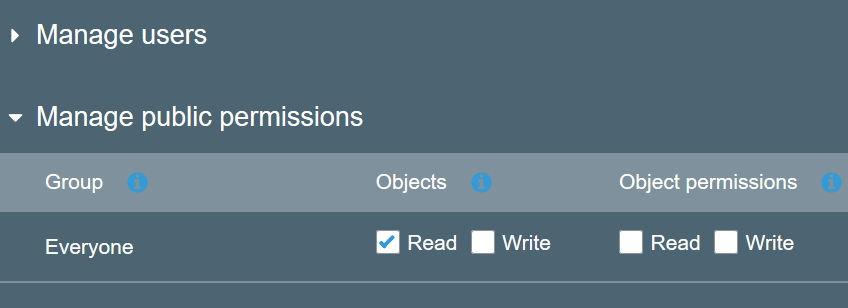 aws s3 amazon setup object permission